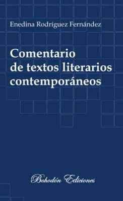 Comentario de textos literarios contemporáneos